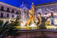 Fountain in Syracuse Stock Images