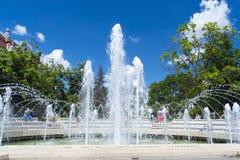 Fountain in Szeged Royalty Free Stock Photo