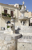 Fountain in Taormina Stock Images