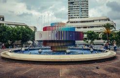 Fountain in Tel Aviv Stock Image