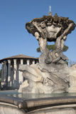 Fountain and Temple of Vesta, Rome, Italy Royalty Free Stock Image