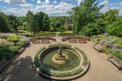 Fountain in the Terrace Gardens royalty free stock images