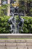 Fountain in the territory of the Parliament of Britain stock image