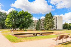 Fountain in the territory of the sanatorium.  Druskininkai, Lithuania Stock Photography