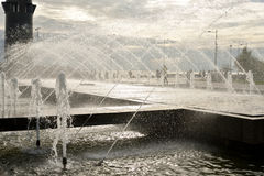 Fountain in 300th anniversary park in St.Petersburg. Stock Photo