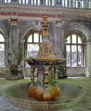 Old fountain from the 19th century - Baile Herculane - landmark attraction in Romania. Old fountain from the 19th century, once a symbol of wealth and class Stock Photos