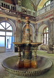 Old fountain from the 19th century - Baile Herculane - landmark attraction in Romania. Old fountain from the 19th century, once a symbol of wealth and class Stock Images
