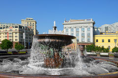 Fountain in Theatre Square (Fountain of the Bolshoi Theatre) Royalty Free Stock Photography