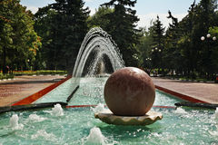 Fountain in  Theatre Way. Belgorod. Russia Royalty Free Stock Photos
