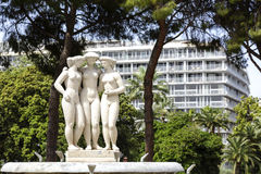 Fountain of The Three Graces in Nice Stock Photography