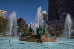 Fountain of the Three Rivers--Logan Square, Philadelphia Stock Photography