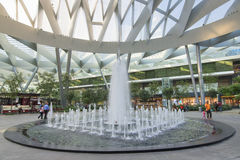 Fountain at Toreo Parque Central in Mexico City Royalty Free Stock Photography