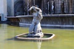 Fountain in town park Jardim da Alameda Stock Images