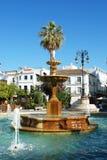 Fountain in town, Sanlucar de Barrameda. Stock Images