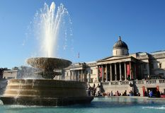 Fountain in Trafalgar Square Royalty Free Stock Photography