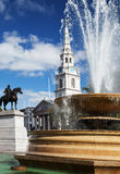 Fountain in Trafalgar Square Royalty Free Stock Images