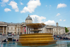 Fountain in Trafalgar Square Stock Photos