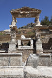 The Fountain of Traianus, Ephesus. Izmir, Turkey Stock Photo