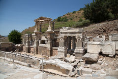 Fountain of Trajan in Ephesus Ancient City Royalty Free Stock Photography