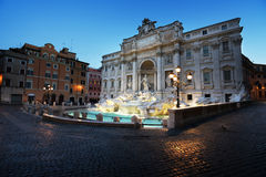Fountain Trevi in morning time Royalty Free Stock Images