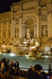 Fountain Trevi at night in Rome, Italy. Famous fountain Trevi, Roma, Italy Royalty Free Stock Photo
