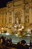 Fountain Trevi at night in Rome, Italy Royalty Free Stock Photo
