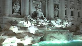 The fountain of Trevi in Rome - famous landmark stock video footage