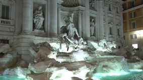 The fountain of Trevi in Rome - famous landmark stock video