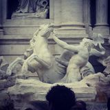 Fountain of trevi royalty free stock images