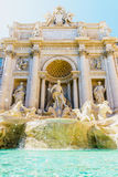 Fountain Trevi and splashes of thrown changes for fortune. Royalty Free Stock Photos