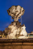 The fountain of the Tritons in Rome, Italy Stock Images