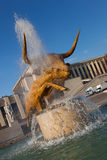 Fountain in the Trocadero Gardens, Paris Stock Image
