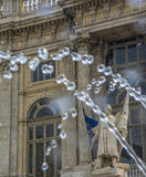 Fountain in Turin. Fountain with architecture in the background Stock Photography