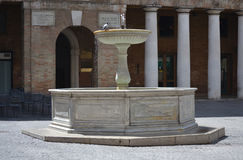 Fountain in Urbino - Italy Stock Photography