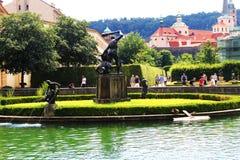 Fountain. Valdstain's garden in capital city of Czech Republic Stock Image