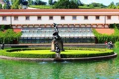 Fountain. Valdstain's garden in capital city of Czech Republic Stock Photo