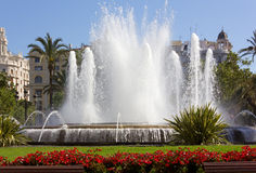 Fountain in Valencia Royalty Free Stock Images