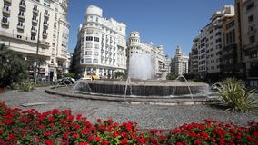 Fountain in Valencia, Spain stock video footage