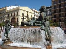 Fountain in Valencia,Spain Royalty Free Stock Photography