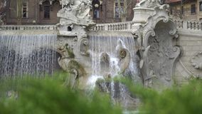 Fountain on the Valentino park Square in Torino, Italy in 4K stock video footage