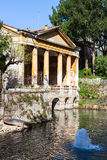 Fountain and Valmarana Loggia in Vicenza city Royalty Free Stock Images