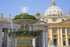 Fountain and Vatican Royalty Free Stock Image