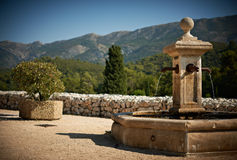 Fountain in Vauvenargues, France Royalty Free Stock Images