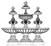 Fountain Vector 07. Classic Fountain Isolated Illustration Vector Stock Images