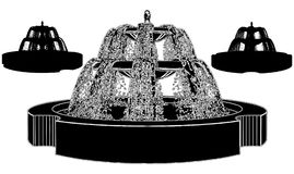 Fountain Vector 09. Classic Fountain Isolated Illustration Vector Stock Image