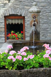 Fountain in Verrand stone village Royalty Free Stock Photo