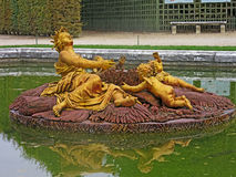 The fountain of Versailles. The Gardens of Versailles Royalty Free Stock Photography