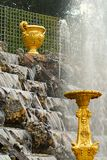 Fountain in Versailles park. Grandes eaux, fountain in Versailles palace, France royalty free stock photo