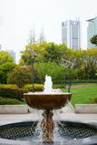 Fountain in Vertical composition. This fountain in a park.It's a very beautiful view Stock Photography