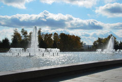 The fountain in Victory park. A memorial complex in honor of soldiers of the Great Patriotic War of 1941-1945 Royalty Free Stock Photography